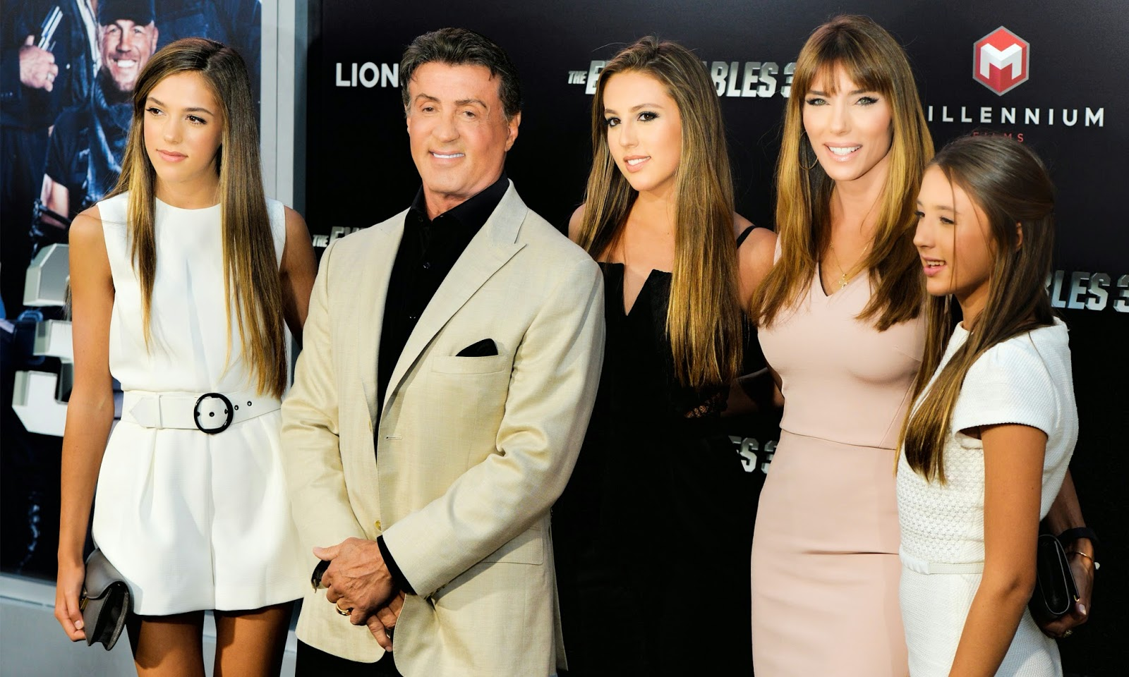 Sylvester Stallone with girls Wallpapers