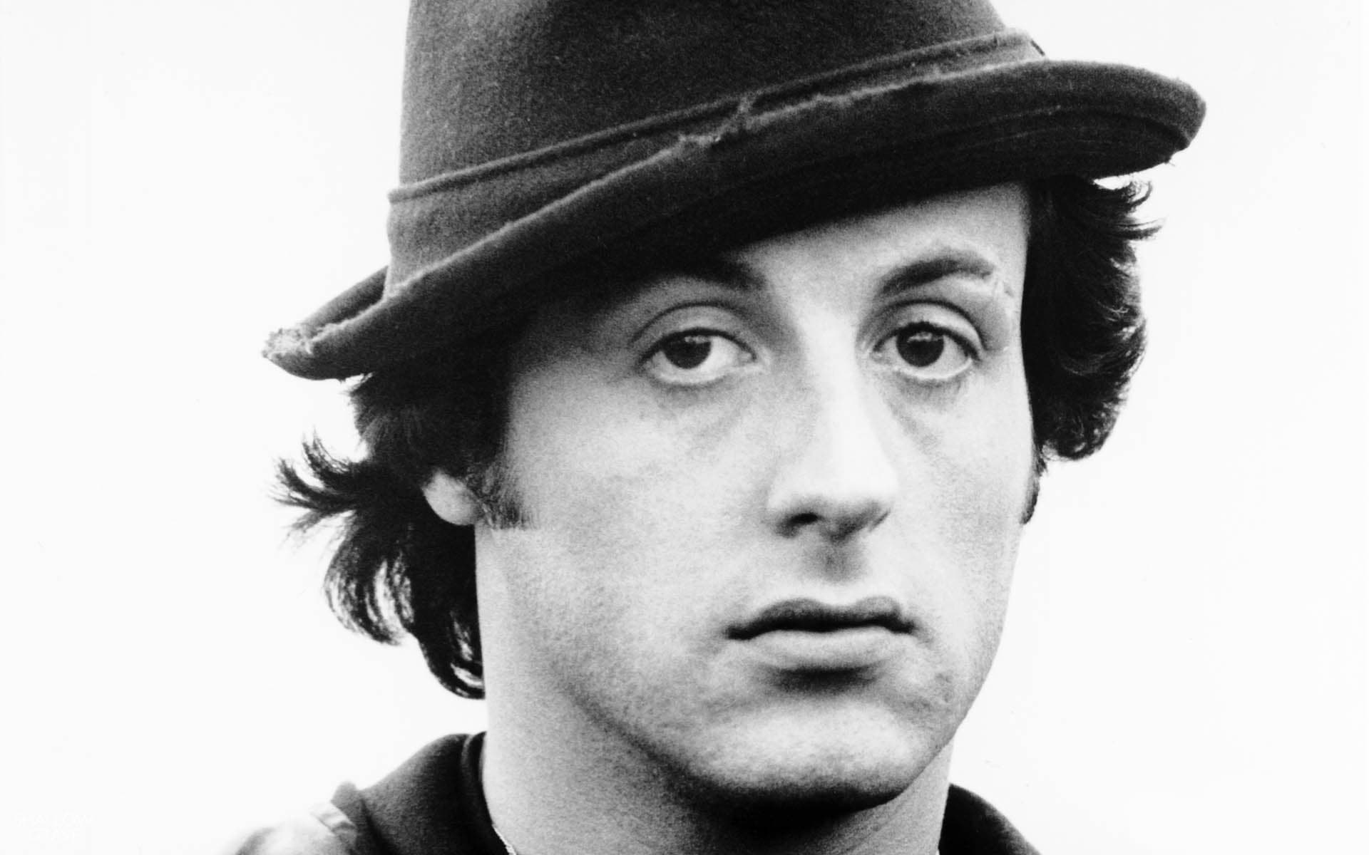 Sylvester Stallone black and white photography