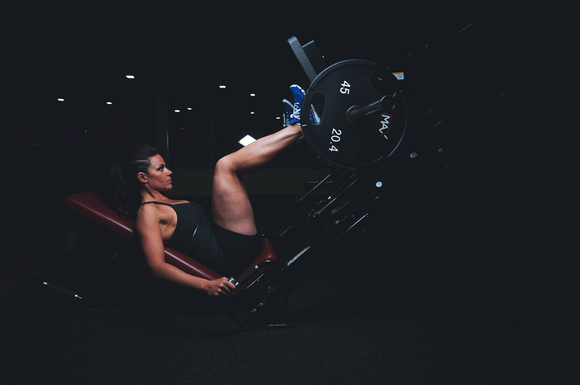 Women Excercise in Gym photo