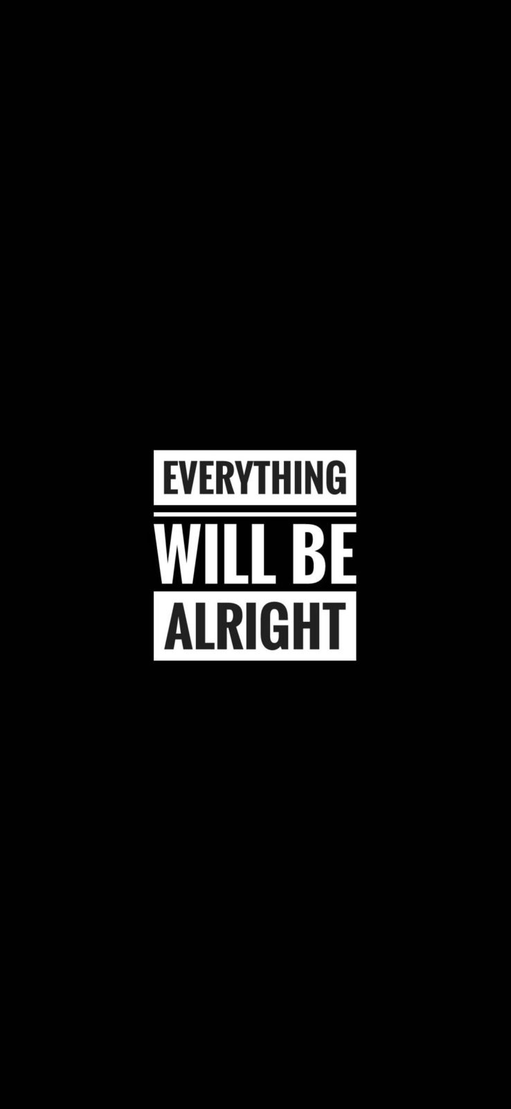 Everything Will Be Alright Motivational Wallpaper